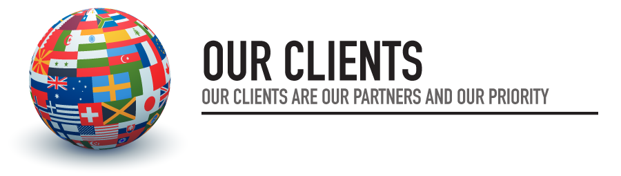 OUR CLIENTS ARE OUR PARTNERS AND OUR PRIORITY!